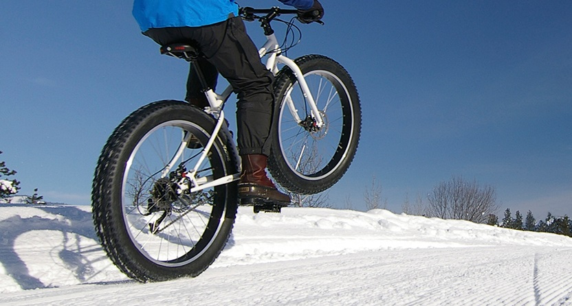 Fat biking at Albion Hills Conservation Area