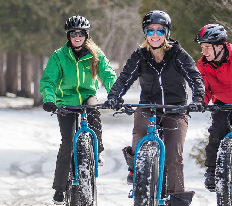 fat tire bikers at Albion Hills Conservation Area