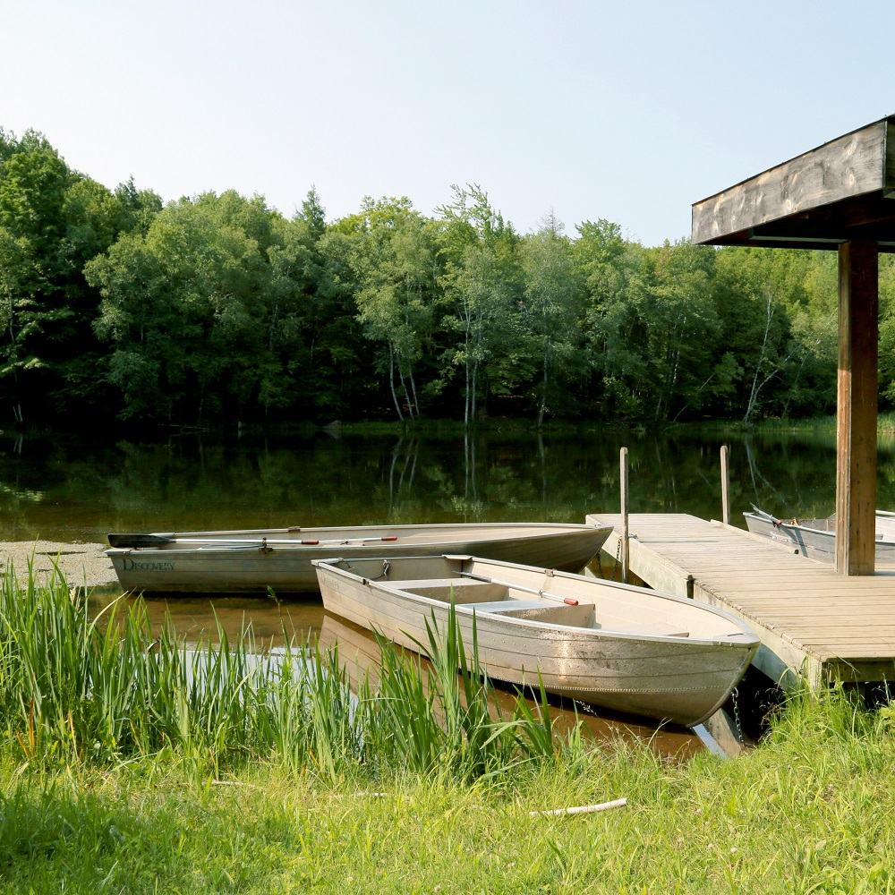 rowboats at Glen Haffy Conservation Area