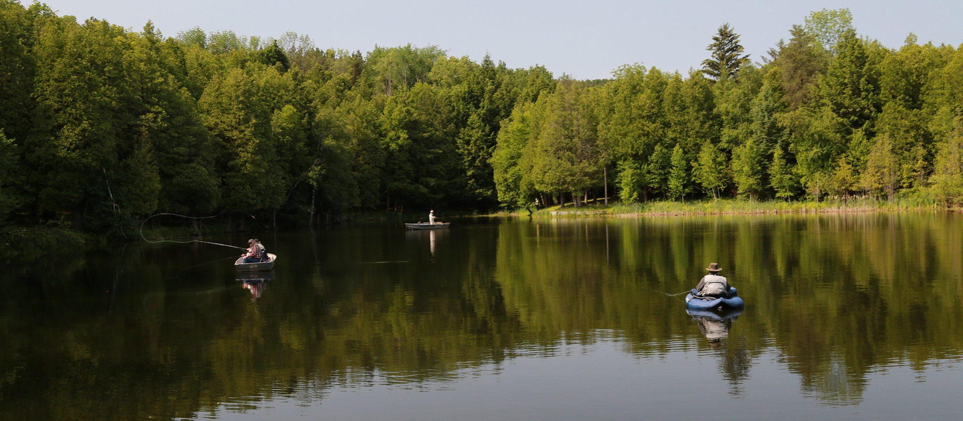 Fly fishing at Glen Haffy Conservation Area