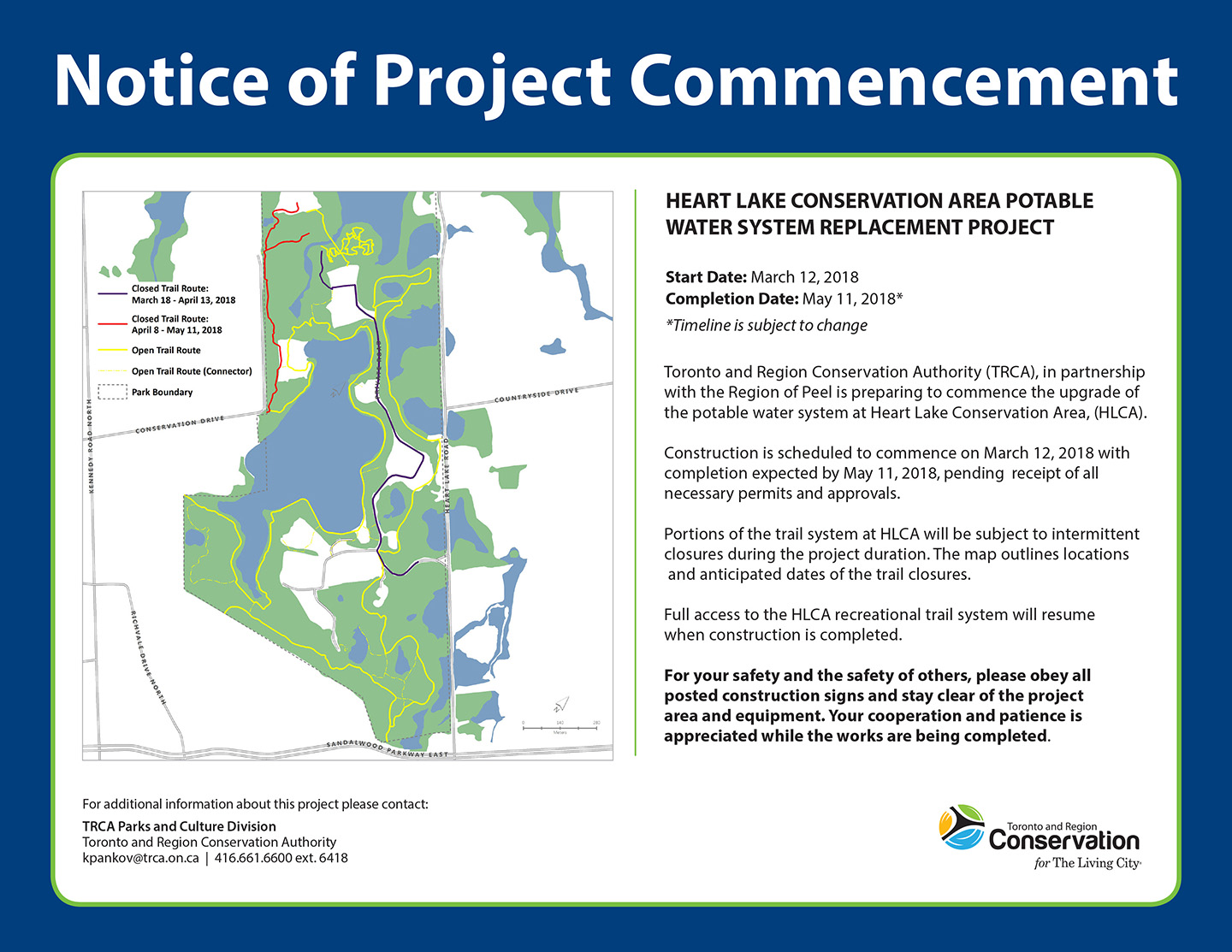 notice of heart lake potable water system upgrade
