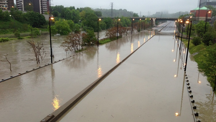 TRCA flood risk management Don Valley Parkway flooding