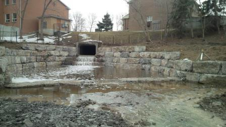 Storm water outfall