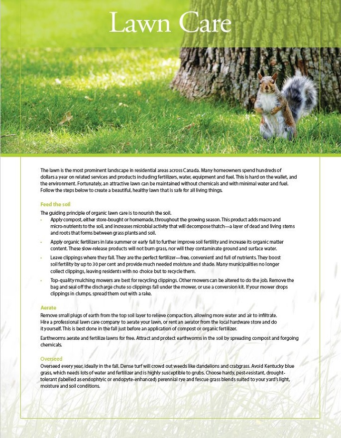 lawn care fact sheet cover