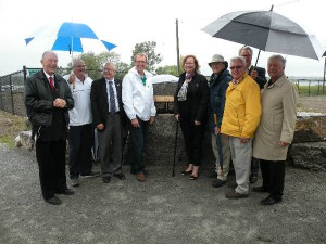People at Frenchman's Bay Harbour Entrance official opening ceremony