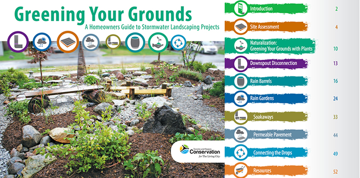 Front cover of TRCA Greening Your Grounds guide