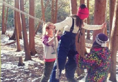 girls take part in Riversong program at Claremont Field Centre