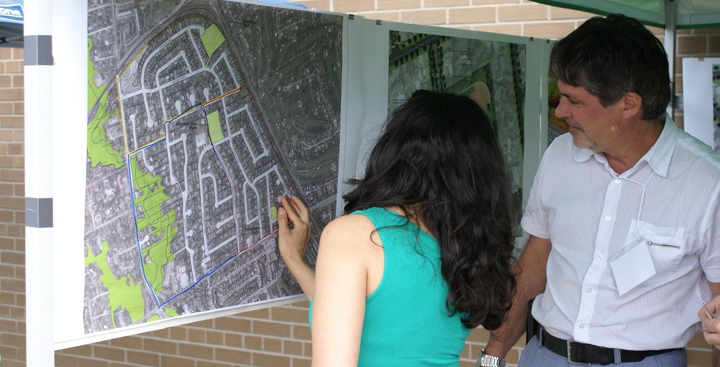 A community fair in the Bayview Glen neighbourhood
