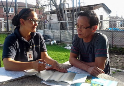 SNAP team member conducts homeowner consultation