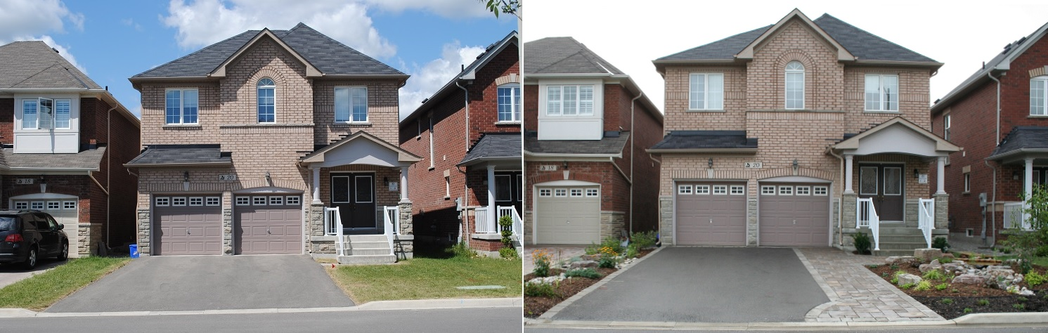 Front Yard Makeover at 95 Wheatsheaf Street before and after