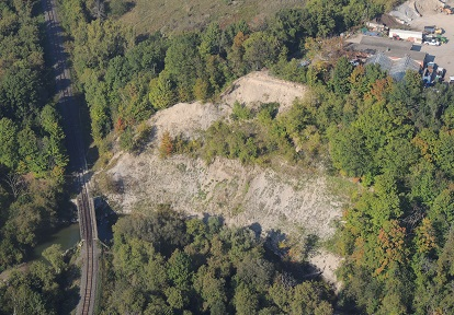 aerial view of erosion management project at 30 Northline Road