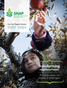 SNAP program five year review cover page