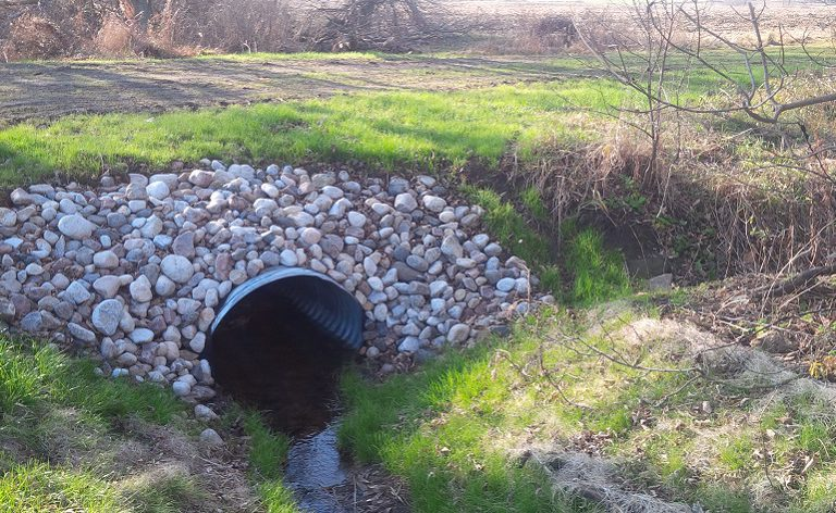 agricultural culvert in the Rouge Watershed after restoration