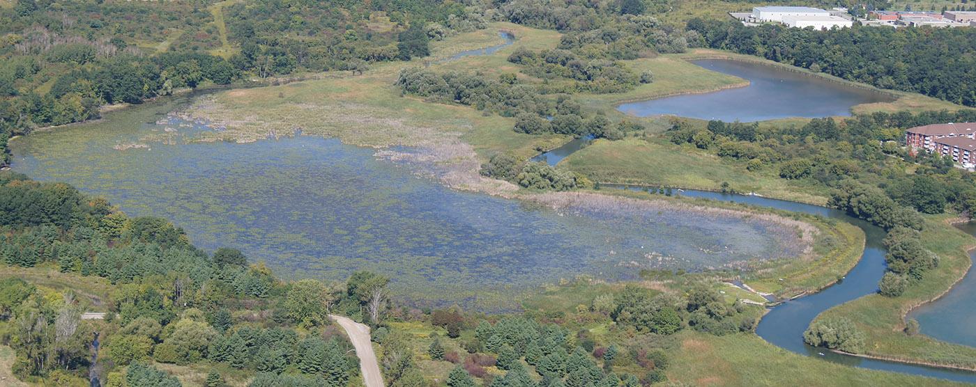 aerial view of Corner Marsh in 2010
