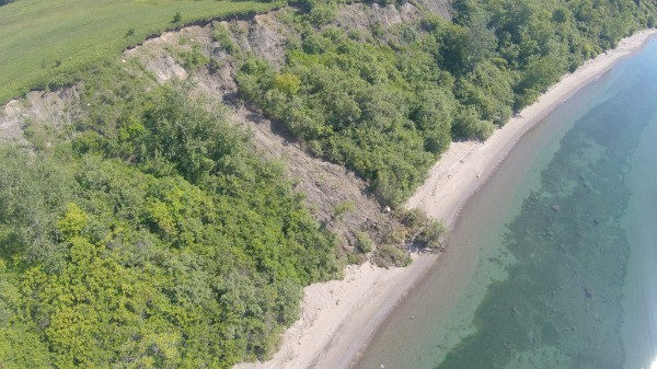 Landslide on the Scarborough Bluffs