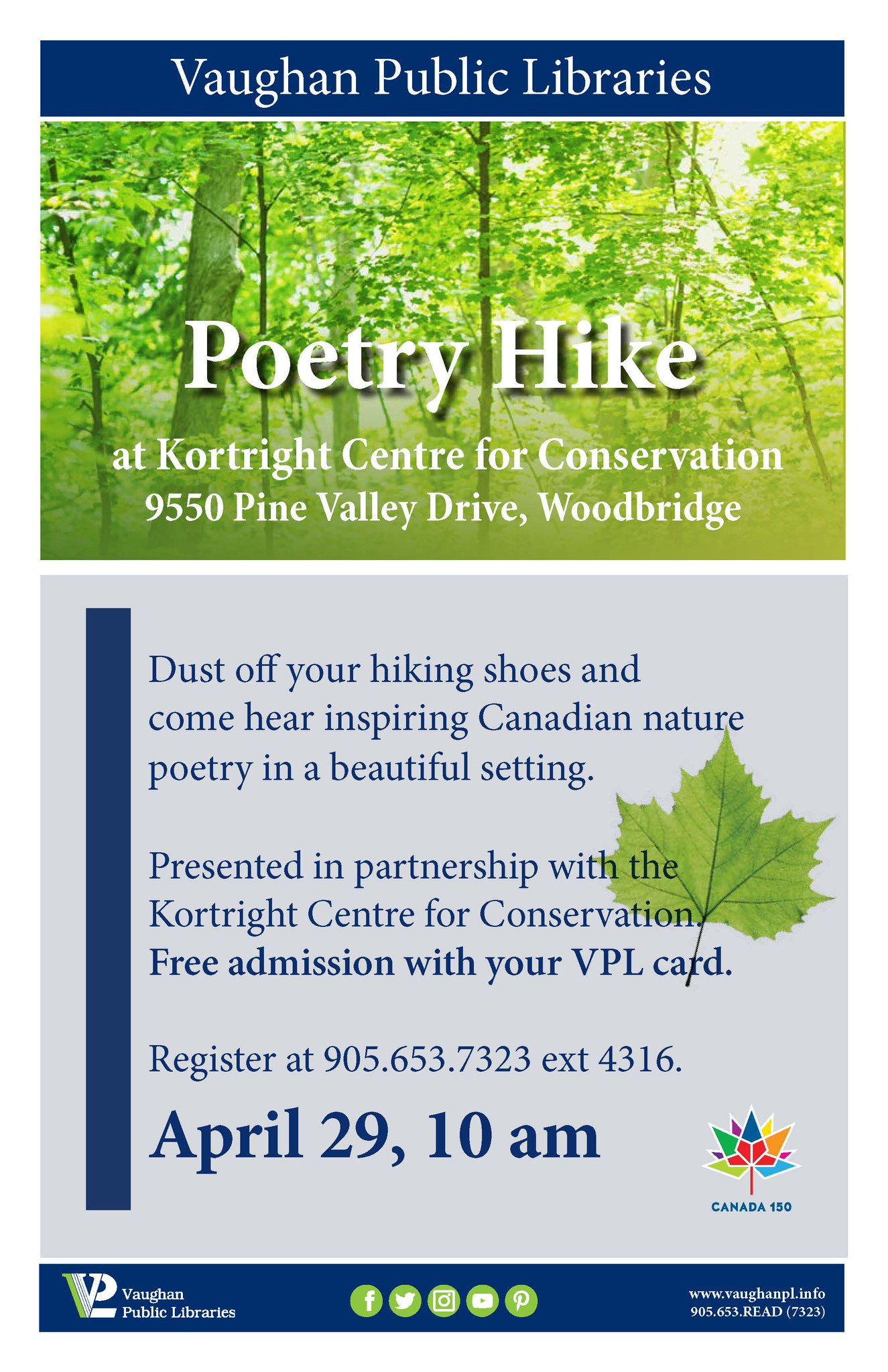 Poetry Hike poster