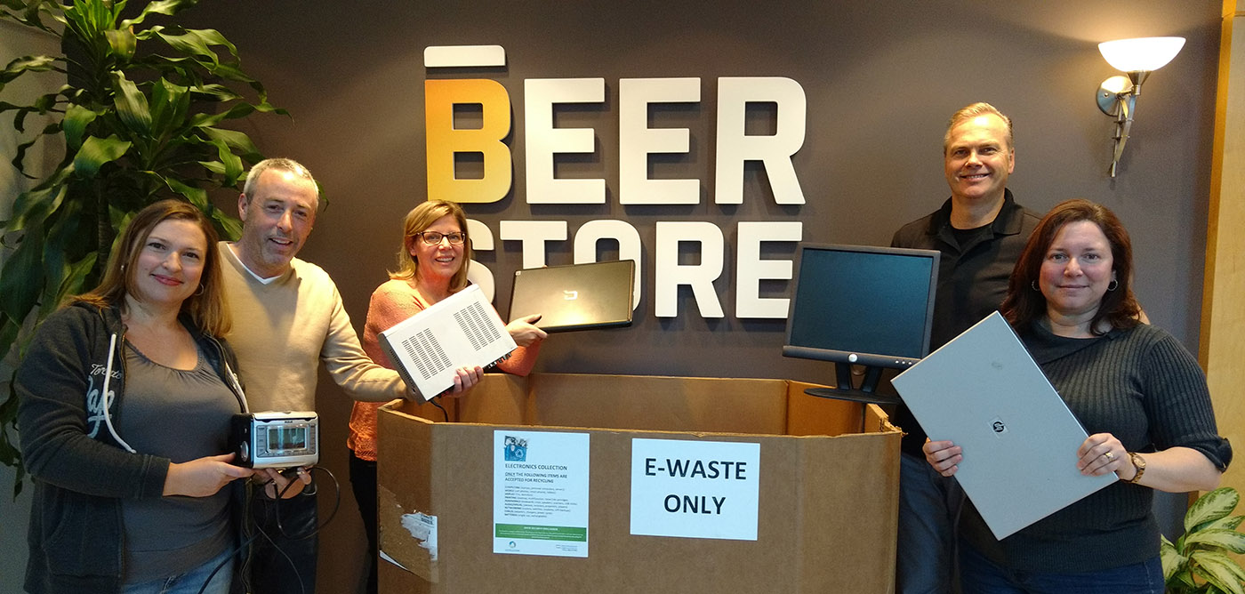 Beer Store employees take part in recycling drive
