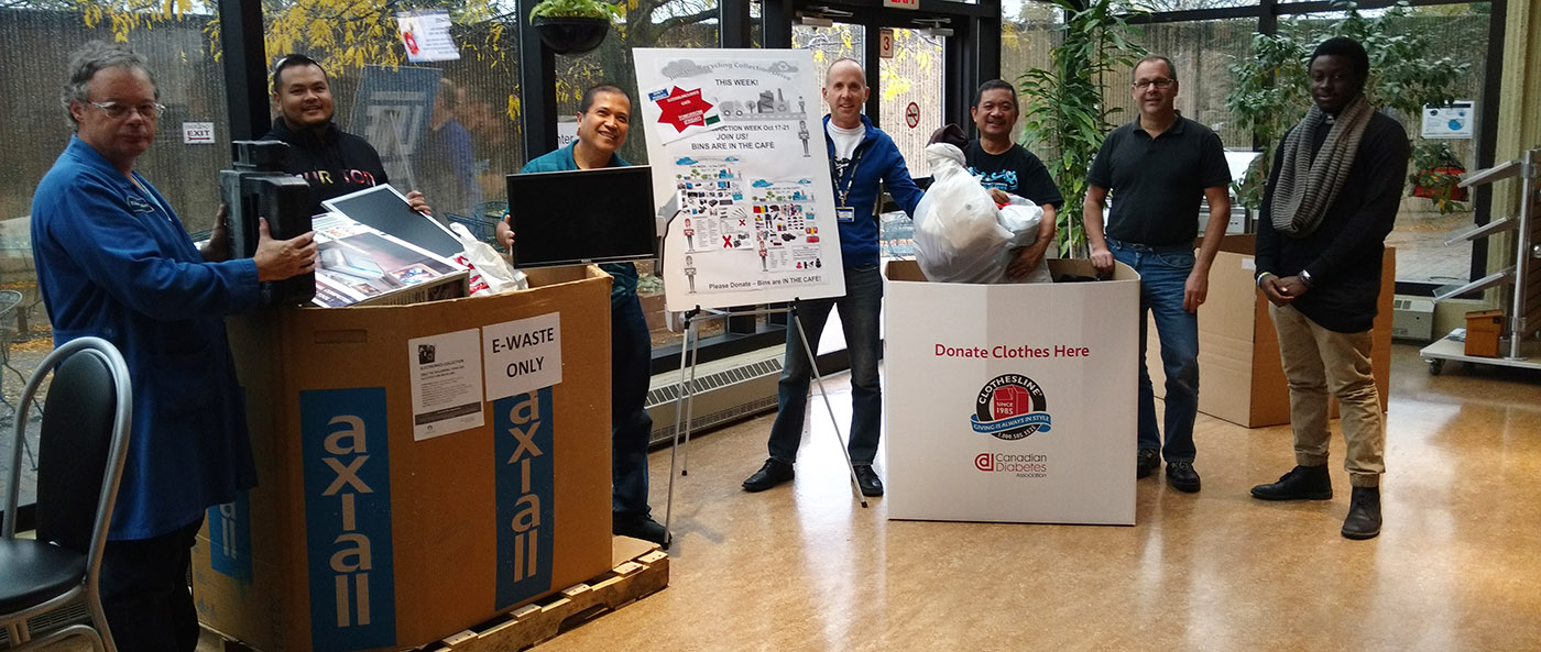 Pratt Whitney Canada employees take part in recycling drive