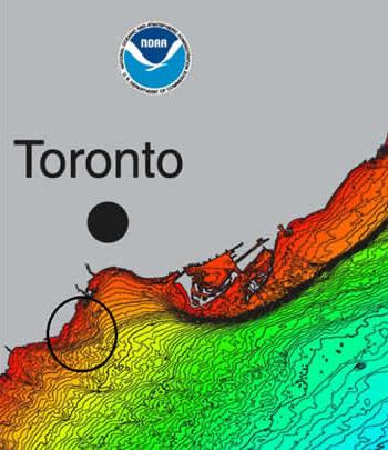 Etobicoke shale outcrop map