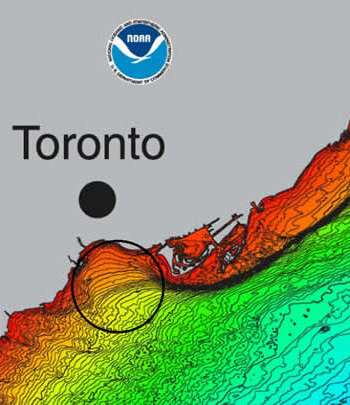 Humber Bay depositional area map
