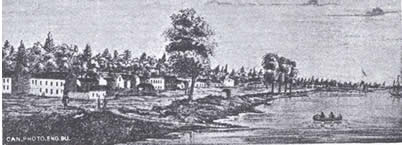 illustration of early settlement in Toronto area