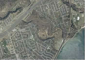 aerial view of Rouge Marsh in 1999