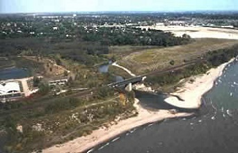 aerial view of Highland Creek