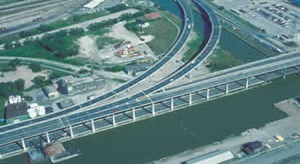 aerial view of Lower Don River