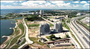 aerial view of Humber Bay area