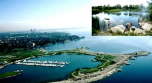 aerial view of Colonel Sam Smith Park