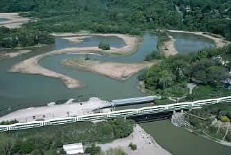 aerial view of Rouge River