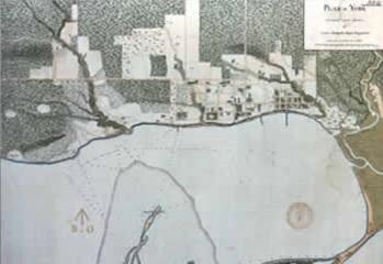 1813 map of Toronto shoreline