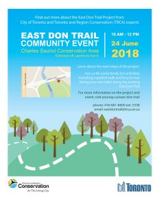 East Don Trail Community Event @ Charles Sauriol Conservation Area, (access off Lawrence, east of DVP) | Toronto | Ontario | Canada