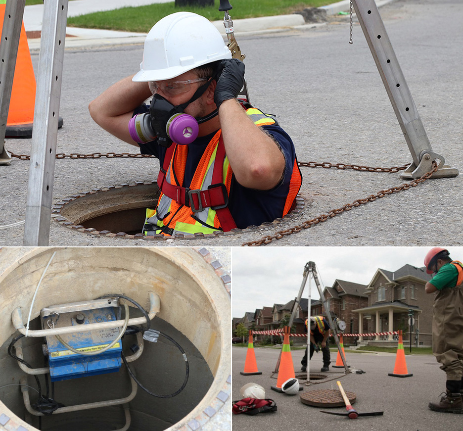 TRCA stormwater monitoring team at work