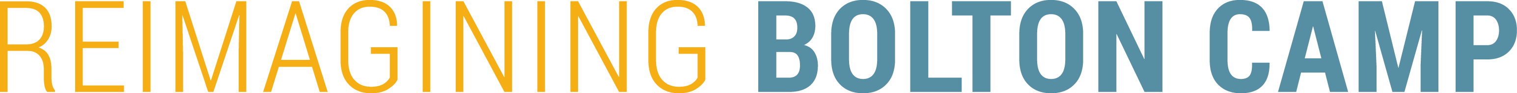 Reimagining Bolton Camp logo