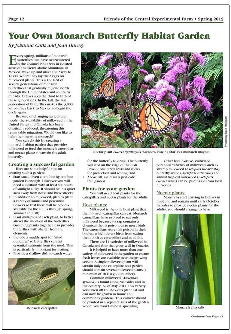 habitat garden article