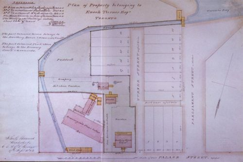 Plan of Enoch Turner's property