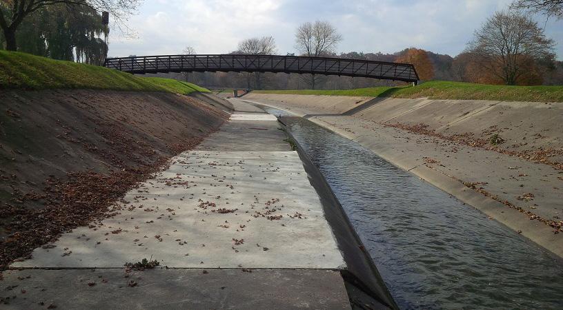 flood control channel at Scarlett Road