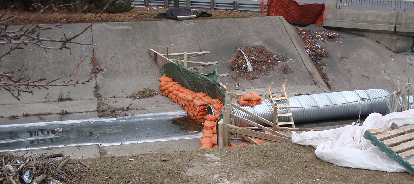 repairs to Black Creek flood control channel