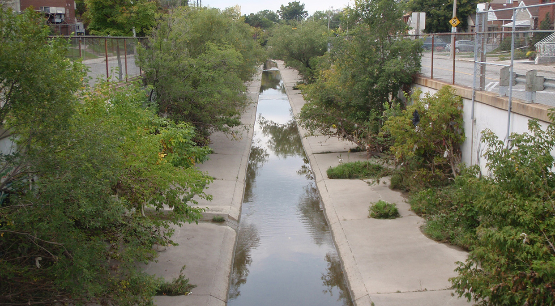 Black creek flood control channel before dredging