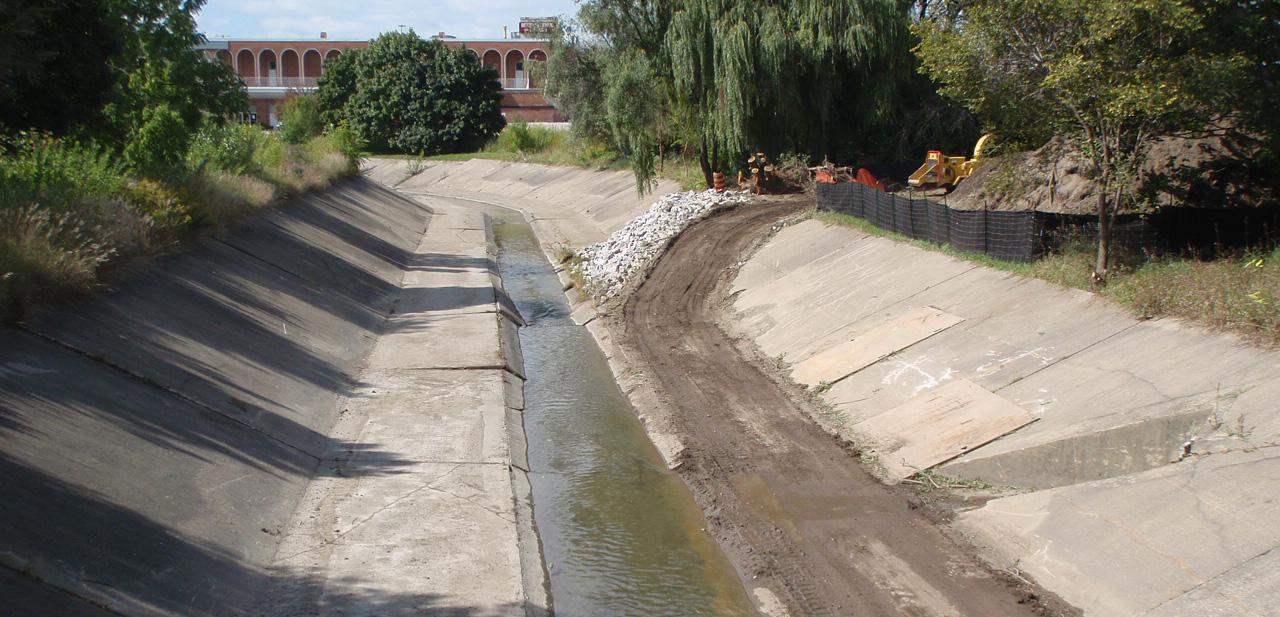 Black Creek flood control channel after 2014 dredging