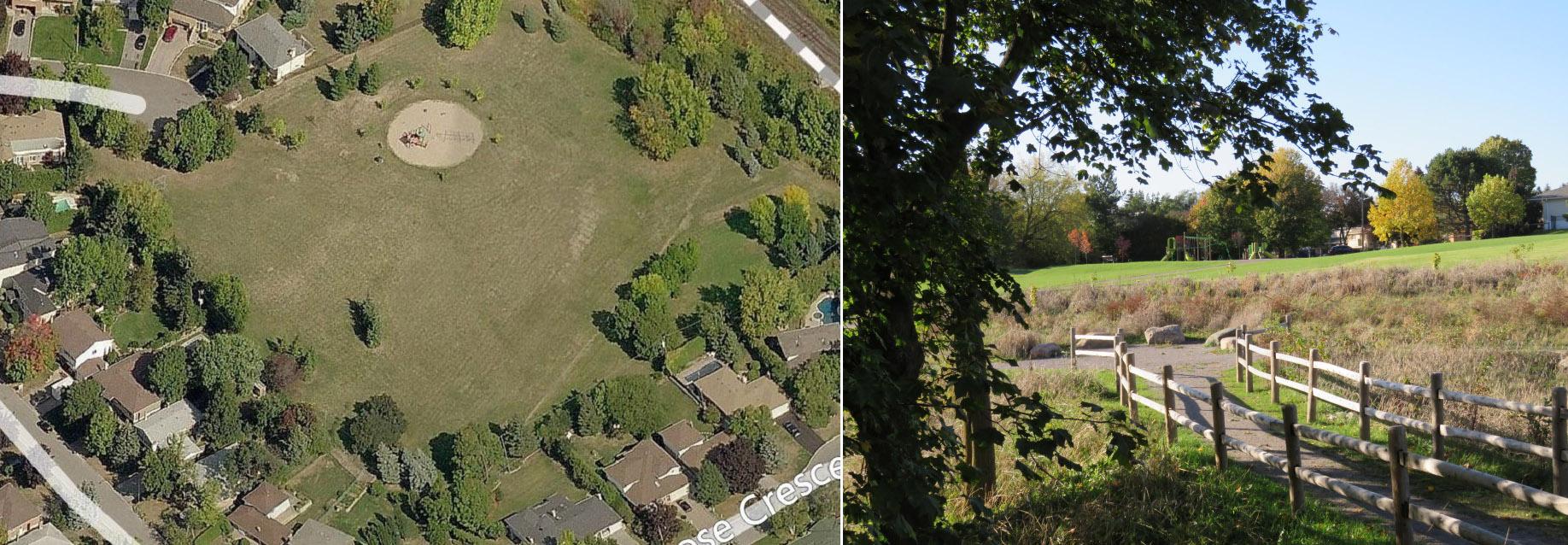 Glencrest Park before and after renewal
