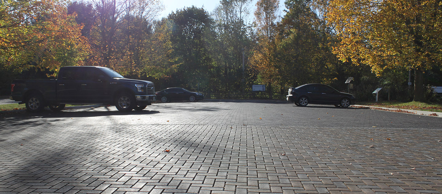 Green Parking lot at Kortright Centre