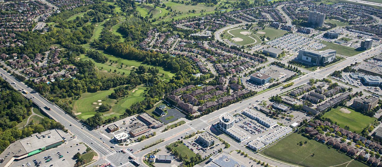 aerial view of Toronto neighbourhood