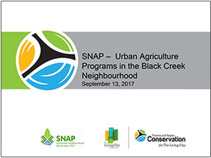 cover of SNAP urban agriculture presentation