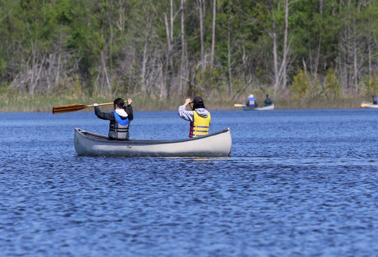 paddlers on lake