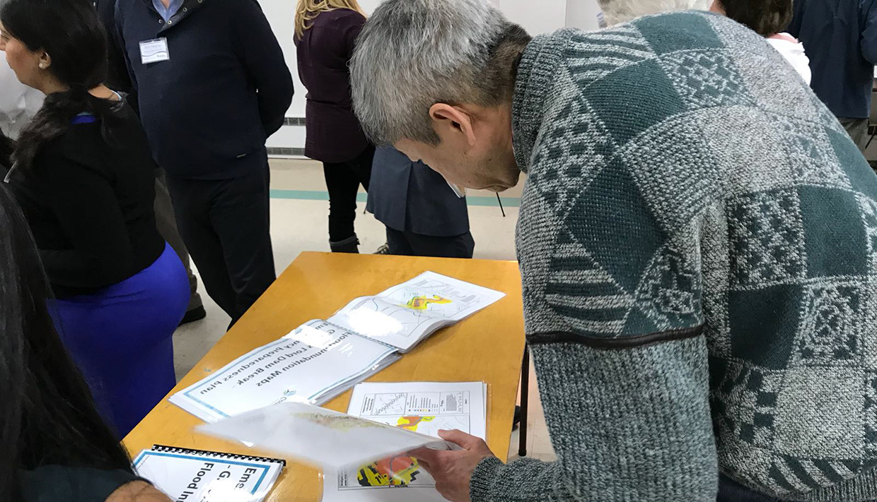community member at TRCA open house