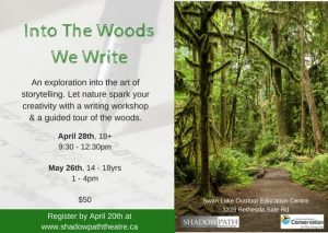 Into the Woods We Write @ Swan Lake Centre for Conservation and Innovation