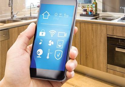 smart home app on phone screen